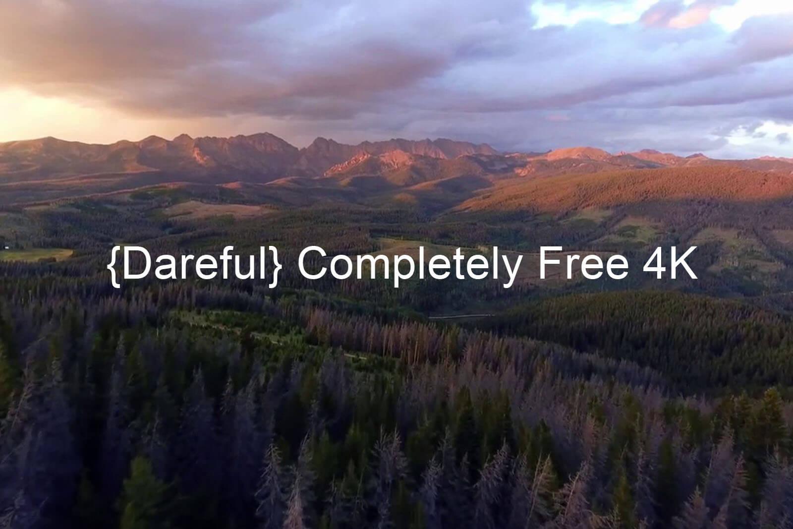 5. Dareful.com - совершенно бесплатное стоковое 4К видео