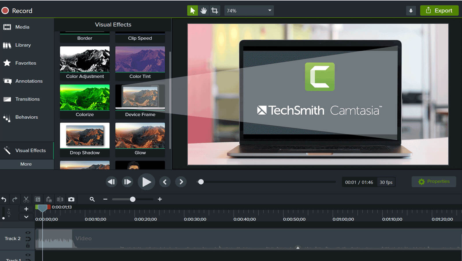 видеоредактор TechSmith Camtasia